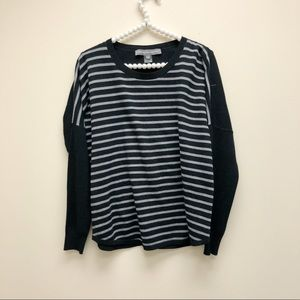 French Connection Black Striped Sweater